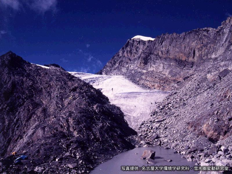 後退する氷河(ヒマラヤ)